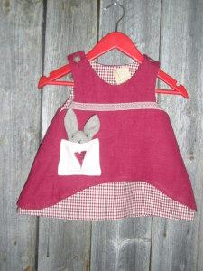 Pellava mekko punainen